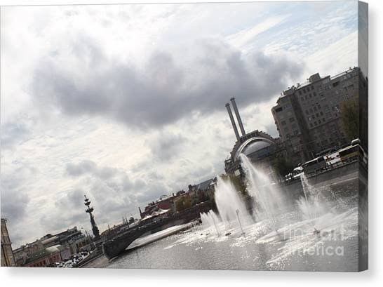 Moscow Skyline Canvas Print - Summer Streams by Anna Yurasovsky
