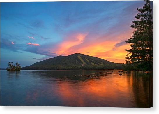 Summer Sunset At Shawnee Peak Canvas Print