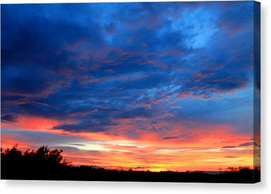 Canvas Print featuring the photograph Summer Sunset by Candice Trimble