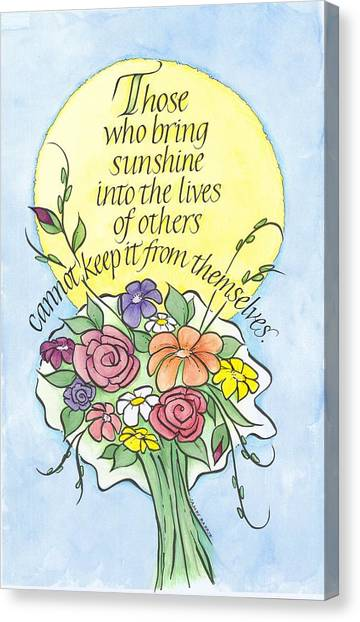Summer Sunshine Canvas Print