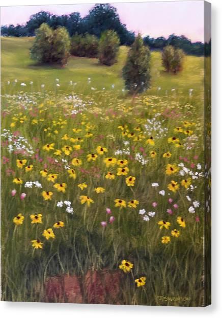 Summer Wildflowers Canvas Print by Joan Swanson
