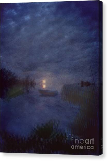 Summer's Moon Canvas Print by Liz Campbell