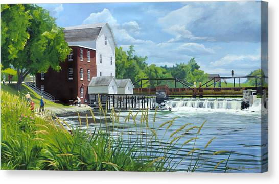 Summertime At The Old Mill Canvas Print