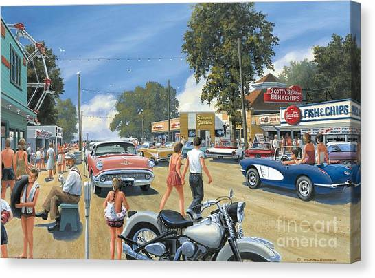 Summertime Canvas Print by Michael Swanson