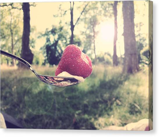Hyde Park Canvas Print - Summertime Strawberry by Matthew Mifsud