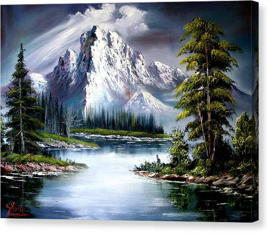Bob Ross Canvas Print - Sun After Rain by Shirwan Ahmed