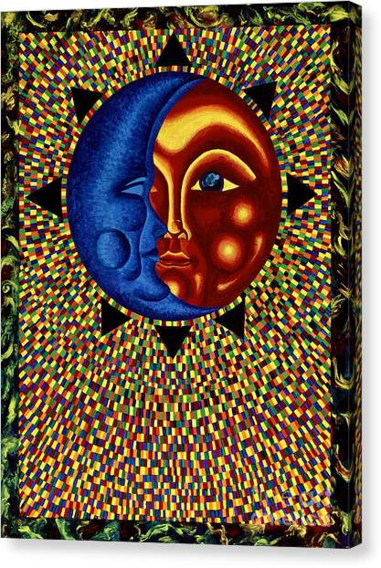 Sun And Moon II Canvas Print