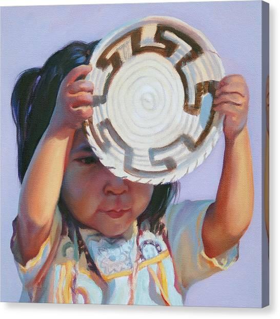Sun And Shield Canvas Print