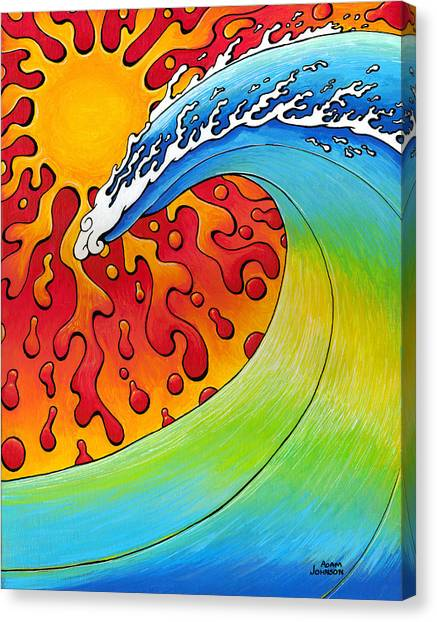 Sun And Surf Canvas Print