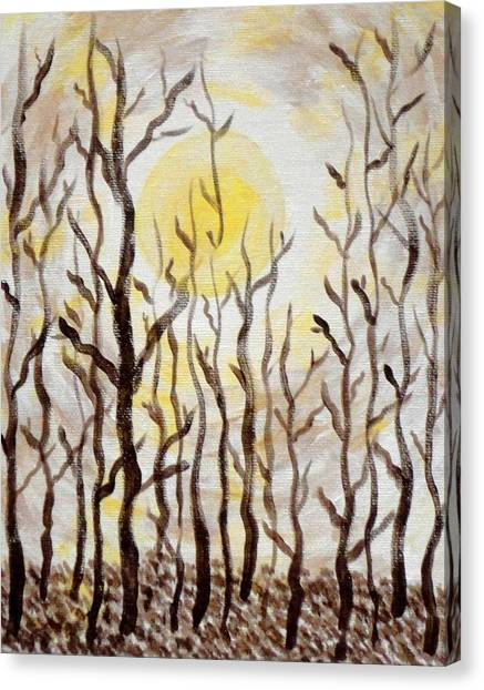 Sun And Trees Canvas Print by Valerie Howell