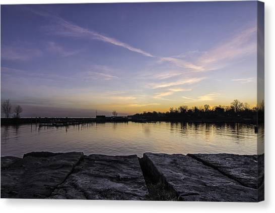 Sun At The Docks Canvas Print by Kris Rowlands