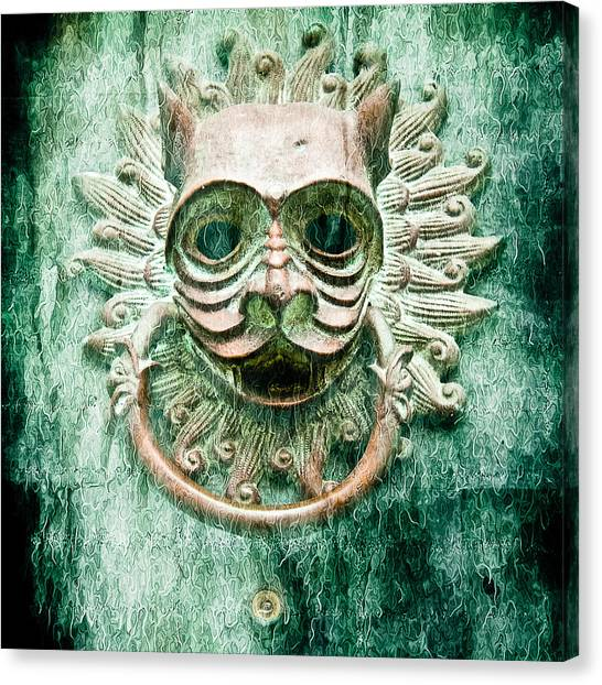 Sun Cat Door Knocker Old Polar Canvas Print
