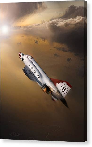 Sidewinders Canvas Print - Sun Chaser 6 by Peter Chilelli