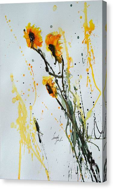 Sun-childs- Flower Painting Canvas Print