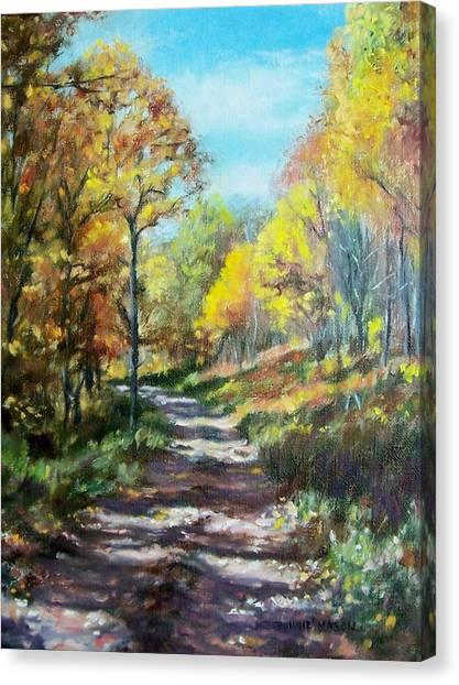 Country Roads Canvas Print - Sun Dappled Path by Bonnie Mason