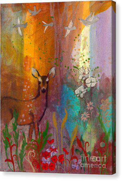 Sun Deer Canvas Print