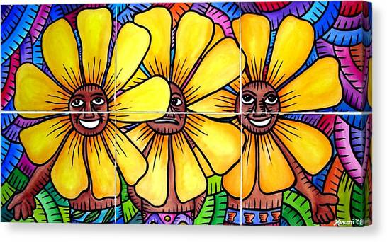 Sun Flowers And Friends 2008 Canvas Print