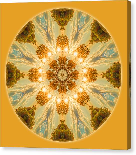 Sun Glow Mandala Canvas Print