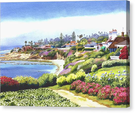 Sun Canvas Print - Sun Gold Point La Jolla by Mary Helmreich