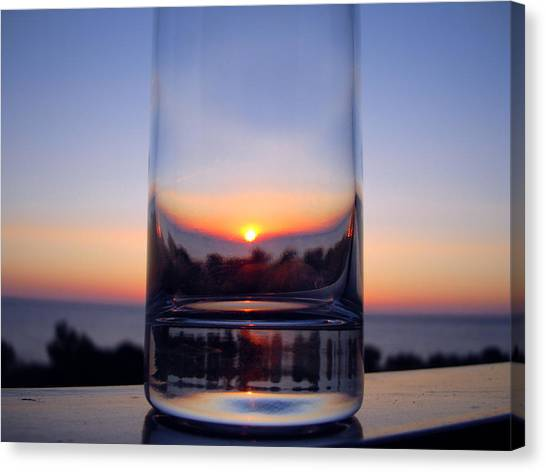 Sun In The Glass Canvas Print