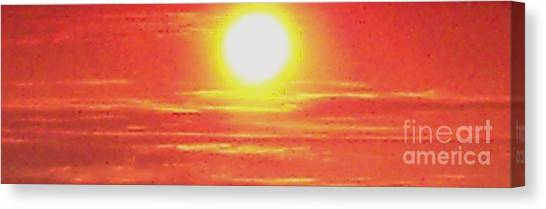 Fire Ball Canvas Print - Sun Is Ball Of Fire by Gail Matthews