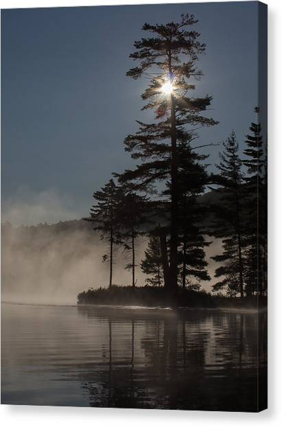 Sun Is Up At The Lake Canvas Print