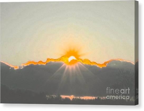 Sun Canvas Print by Jay Nodianos