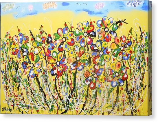 Sun-kissed Flower Garden Canvas Print
