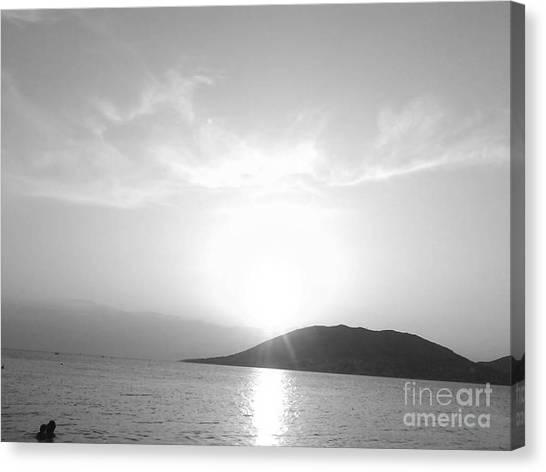 Sun Light In Black Canvas Print by Katerina Kostaki