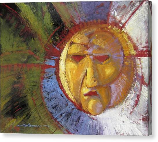 Sun Mask Canvas Print