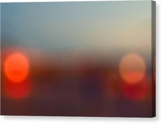 Sun On Horizon Canvas Print