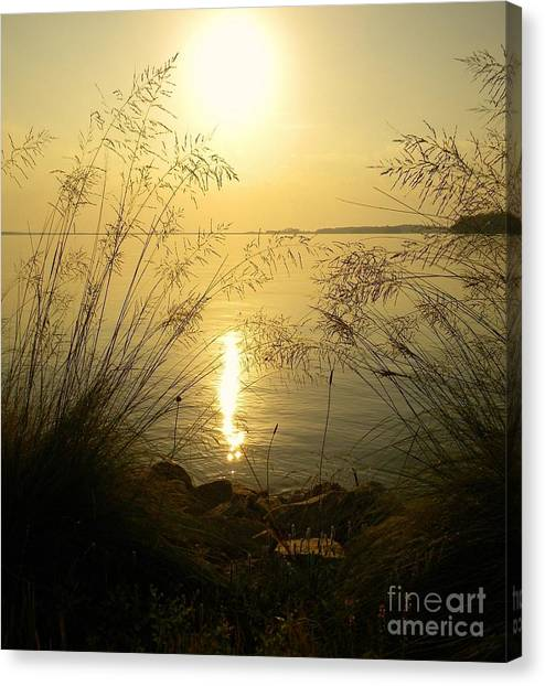 Sun Over Lake Murray Canvas Print