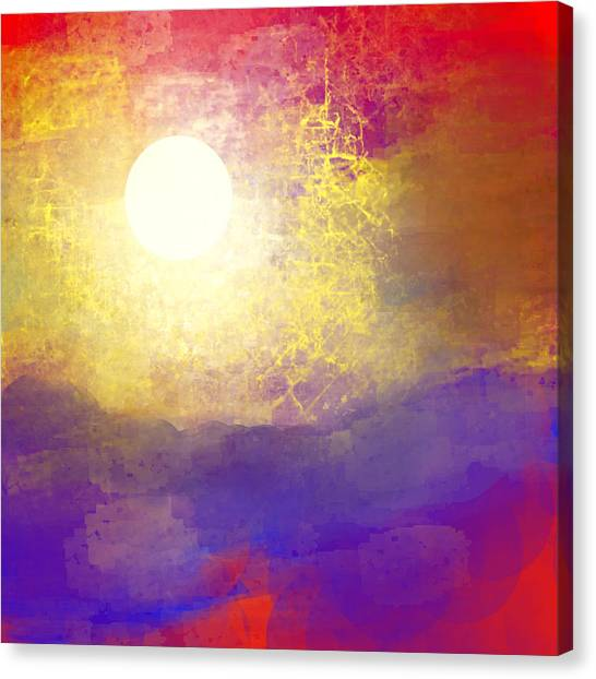 Sun Over The Canyon Canvas Print by Jessica Wright