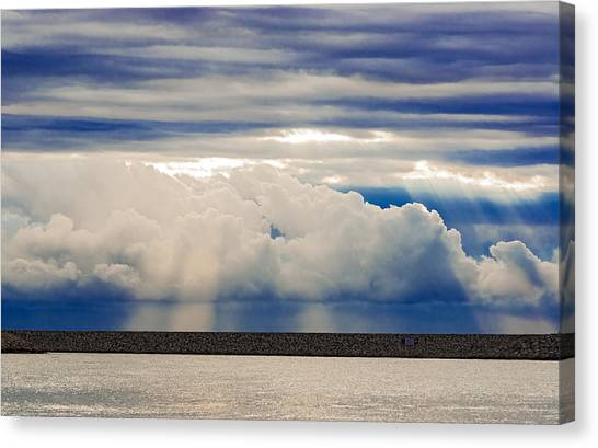 Sun Over The Clouds Canvas Print