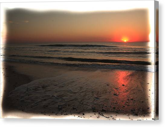 Sun Over The Ocean Canvas Print