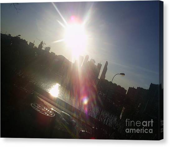 Moscow Skyline Canvas Print - Sun Passion by Anna Yurasovsky