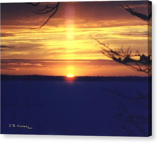 Sun Pillar Canvas Print
