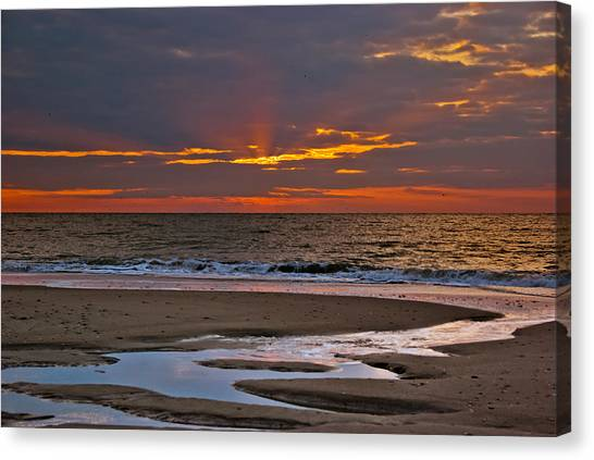 Sun Ray Sunrise Canvas Print