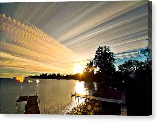 Sun Rays And Wind Streams Canvas Print