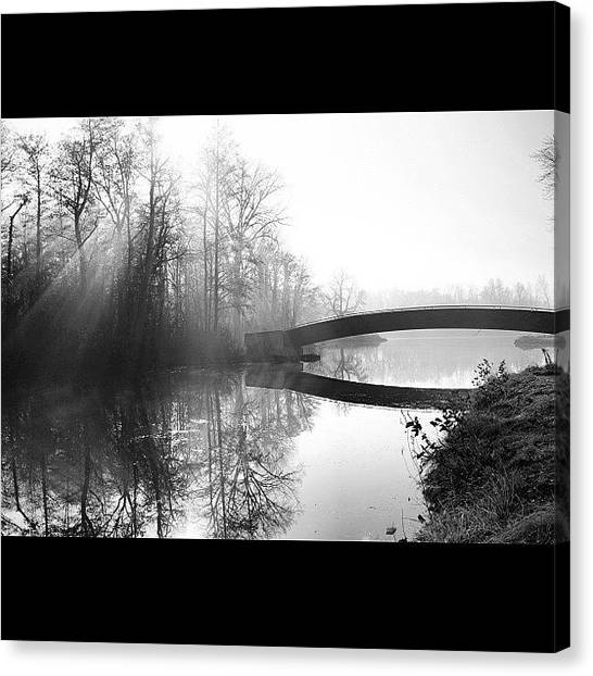 Wisconsin Canvas Print - Sun Rays.  Black And White by Aran Ackley