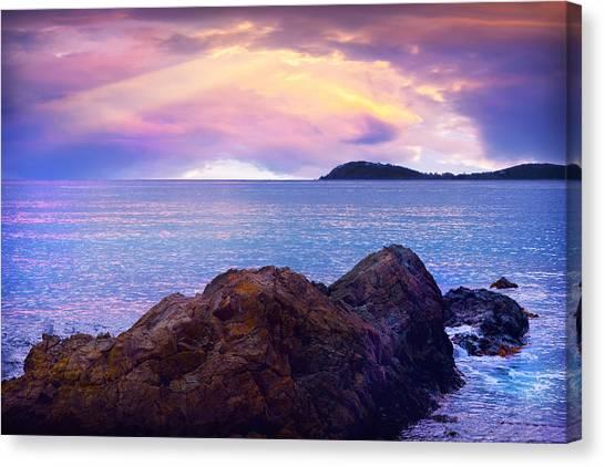 Sun Set Over St. Thomas Canvas Print