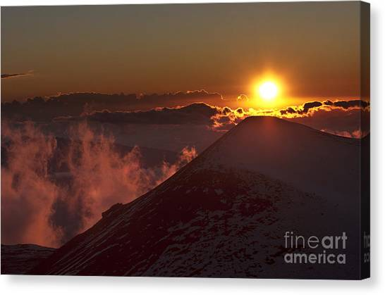 Sun Setting Canvas Print by Karl Voss