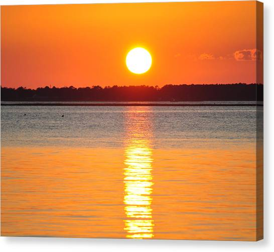 James Lewis Canvas Print - Sun Setting Over Beaufort by James Lewis