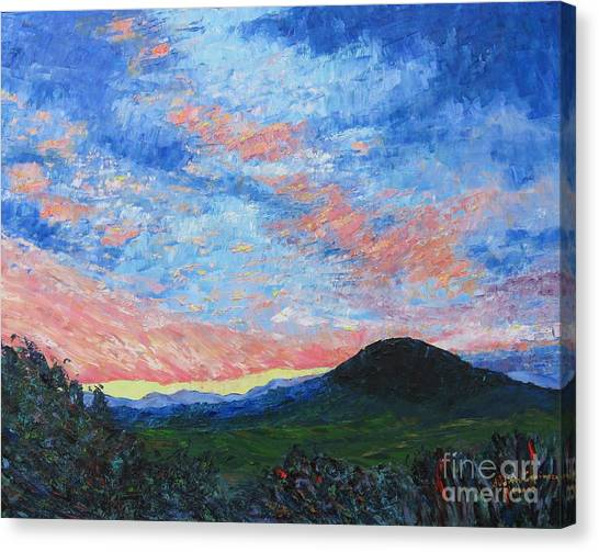 Sun Setting Over Mole Hill - Sold Canvas Print by Judith Espinoza