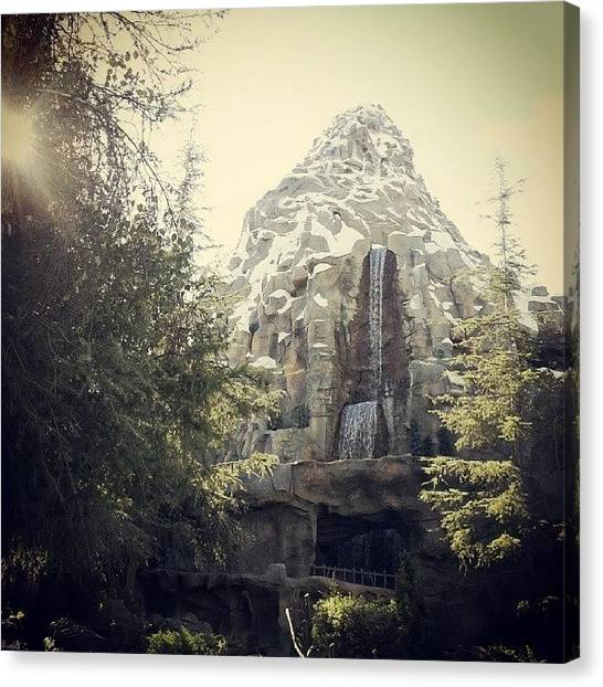 Matterhorn Canvas Print - Sun Shining Through The Trees by Jennifer Lynn
