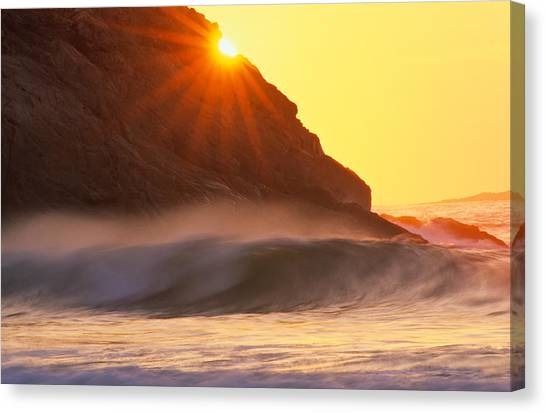 Sun Star Singing Beach Canvas Print