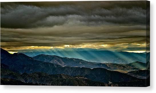 Sun Storm Canvas Print