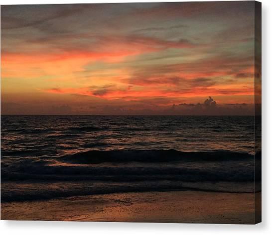 Sun Streak Sky Canvas Print