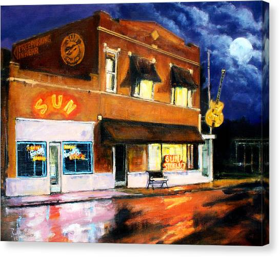 Sun Studio - Night Canvas Print