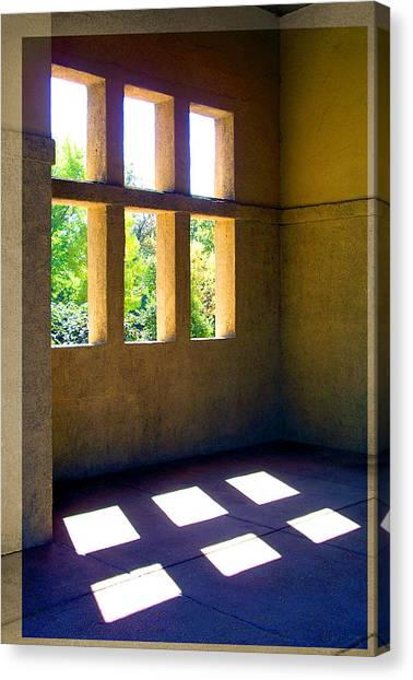 Sun Thru Windows Adobe Architecture Canvas Print